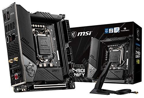 MSI MEG Z490I Unify Mini-ITX Motherboard (10th Gen Intel Core, LGA 1200, Dual M.2 Slots, Thunderbolt 3 Type-C, Wi-Fi 6)