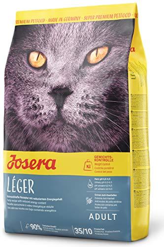 JOSERA Léger (1 x 400 g) | Katzenfutter mit niedrigem Fettgehalt | Super Premium Trockenfutter für ausgewachsene Katzen | 1er Pack