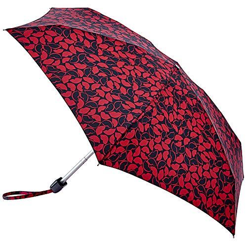 Lulu Guinness Pequeño paraguas plegable – Todos los labios dibujados a mano
