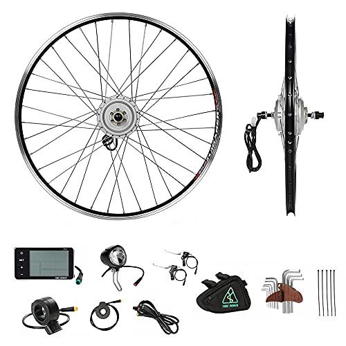 YOSE POWER 36V250W Kit di Conversione per Bici Elettrica con Ruota Anteriore da 28'', Motore a Mozzo da E-Bike per Il Bricolage e-Bike