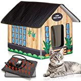 PETYELLA Outdoor Cat House Feral Cat Shelter (Heated) - Easy to Assemble - Cat Houses for...