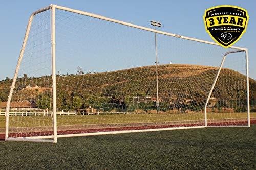 G3ELITE Pro 21x7 Junior Youth Modified Regulation Soccer Goal, (1) 3.5mm Net, Strongest Portable 2