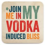 Brainbox Candy - Posavasos divertido con texto en inglés 'Vodka Bliss' - Pequeñas ideas de regalo para él y ella - Cumpleaños amigos - Regalo de inauguración de la casa - Regalo nuevo hogar - Regalos divertidos para mujeres y hombres