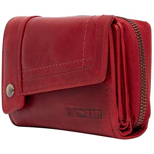 Hill Burry Damen Portemonnaie Echtleder XXL Chunkyrayan 3698 Red