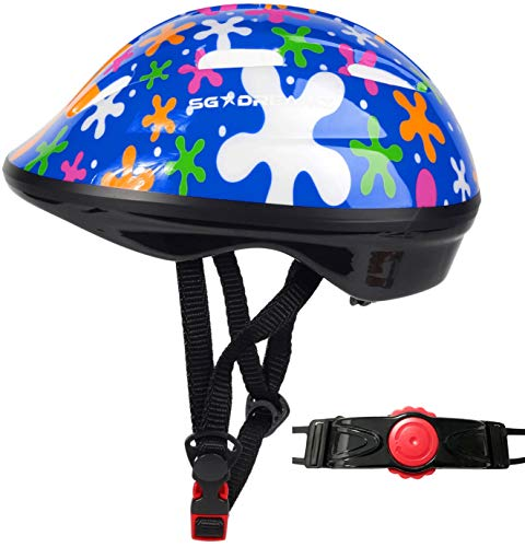 SG Dreamz Toddler Helmet - Adjustable from Infant to Toddler Size, Ages 1 to 3 - Durable Kids Bicycle Helmets with Fun Sporty Design Boys and Girls Will Love - CSPC Certified for Safety (SPLASHBLUE)