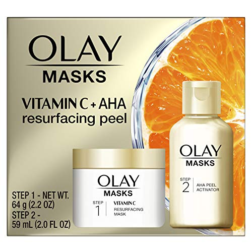 Olay Vitamin C Face Mask Kit, Exfoliator Kit with Mask, Silica, & Exfoliating Aha Peel 4.2 Fl Oz