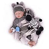CHAREX Sleeping Reborn Baby Doll, 22 Inch Realistic Newborn Baby Dolls, Lifelike Weighted Reborn Baby with Soft Toy for Boys Age 3+