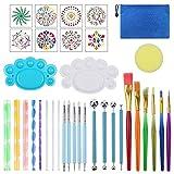 Herramientas para Pintar Mandalas,Comius Sharp Juego de 35 de Pinceles para Pintar Mandala,Diferentes tamaños, para Bricolaje, Rocas, Pintura, Repujado, cerámica, Manualidades