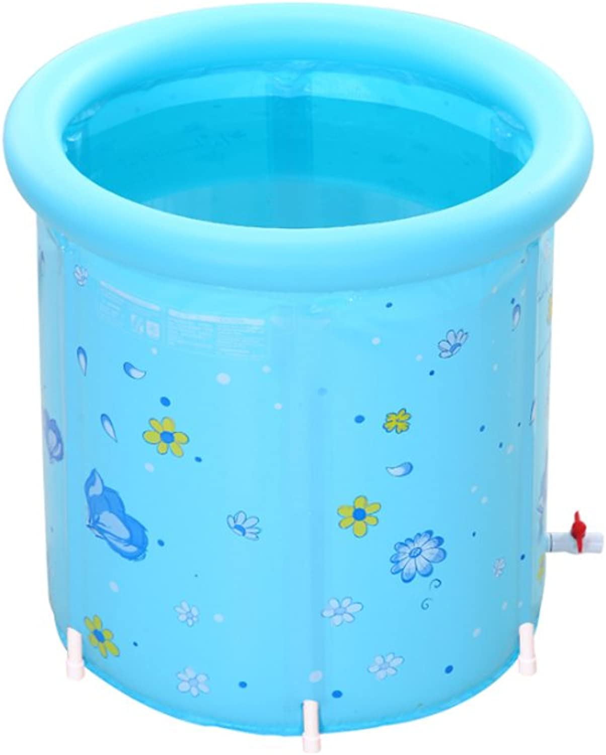 AMINSHAP Do Not Need Inflatable Adult Bathtub Fashion Large Size Thickening Bracket Bucket Folding 8080cm Environmental Predection Material