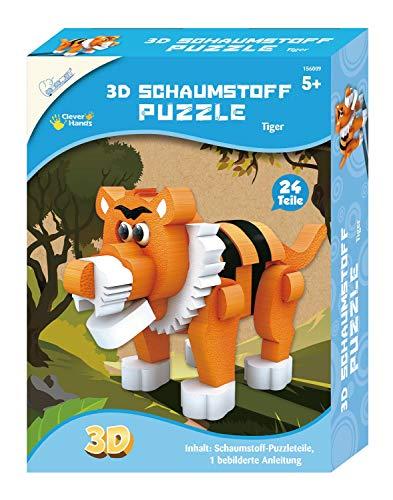 Mammut Spiel & Geschenk 3D de Tigre, Safari, Puzzle de Animales de Espuma, Juego Completo con Piezas de Rompecabezas e Instrucciones, Set Creativo para niños a Partir de 5 años (156009)