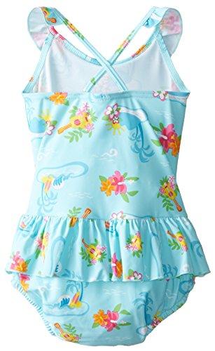 I-Play. Baby Girls' One Piece Ruffle Swimsuit with Swim Diaper UPF 50+