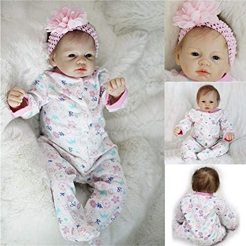 Global Brands Online Echte Neugeborene 22  handgemachte Lebensechte Baby Puppe Reborn Silikon Vinyl Kleidung K per