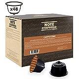 Note d'Espresso - Lot de 48 capsules de cappuccino instantané compatibles avec machine Dolce Gusto, 48x9g