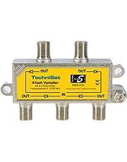 TechniSat - Ladrón para satélite de 4 vías (4 pasos DC) (importado)