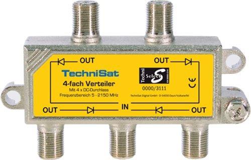 TechniSat 4-Wege Sat-Verteiler (diodenentkoppelt, zur Verteilung der ersten Sat-Zwischenfrequenz)