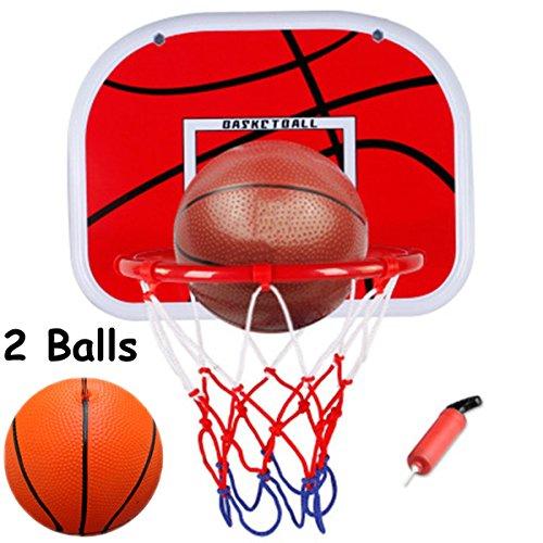 WoBoSen All'interno Mini Basket Hoop a Ufficio Camera Mini Pallacanestro Bordo Bambini Sport di Svago con la Sfera e la Pompa (Basket)