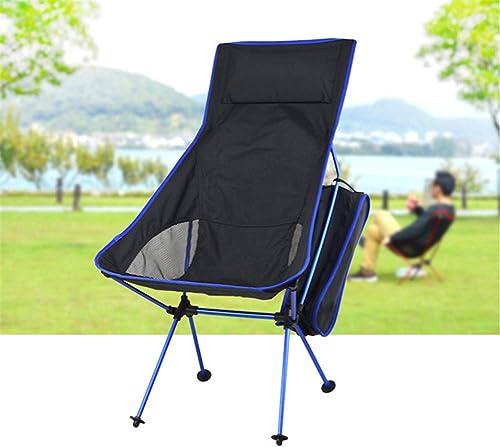 Furniture Moon plage Chair portable Aluminium Fishing Camping BBQ Tabouret Pliage Camping étendu Siège Bureau Accueil,bleuDark
