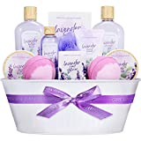 Spa Gift Baskets for Women - 12 Pcs Lavender Scent Bath Set Including Shower Gel Reed Diffuser Bubble Bath, Lovely Women Gifts Box for Christmas Birthday Valentine's Day