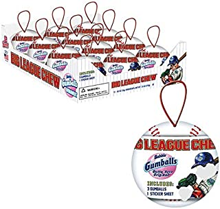 Big League Chew Holiday Baseball Ornament, 0.63 Ounce - 12 Count Display Pack