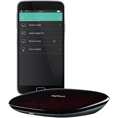 Logitech Harmony Hub, Transforme Votre Smartphone en Télécommande Universelle, Pour Freebox, Apple TV, Roku, Sonos et Contrôle Domotique, Appli, Configuration Facile, LG/Samsung/Sony/Xbox/PS4 - Noire