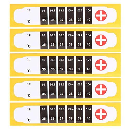 Artibetter 5 Stuks Thermometer Strips Baby Voorhoofd Thermometer Stickers Lijm Controleren Schattige Koorts Thermometer Meter Monitor Voor Kinderen Kinderen