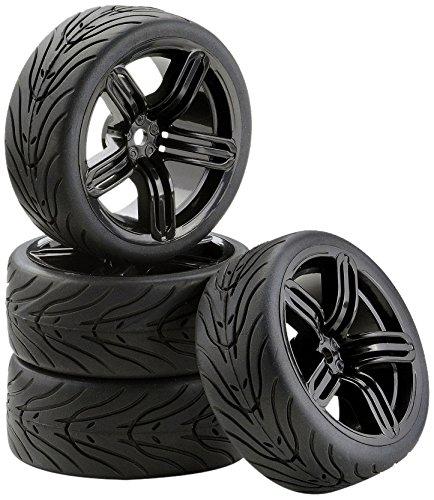 Carson 500900543 1:10 SC Räder 6S Style 4, schwarz