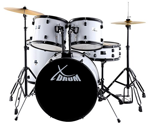 XDrum Rookie 22' Batteria Standard Drum Kit completo Bianca