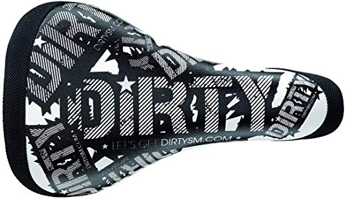Ammaco. Selle San Marco Dirty Triky BMX Fixie Fixed Wheel Slopestyle Freestyle Mountain Bike Downhill XC Lightweight White/Black Cromoly