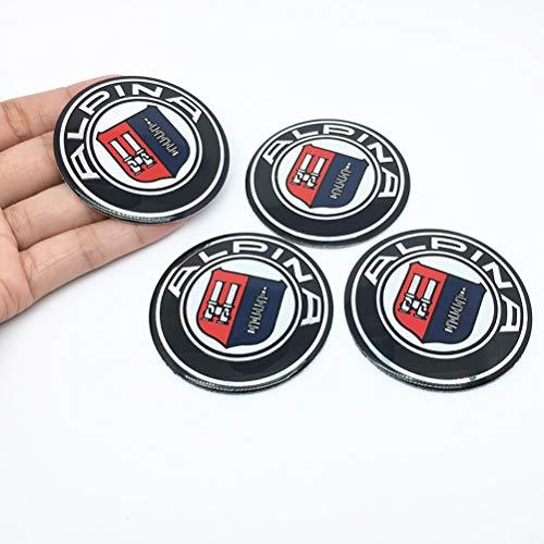 QIEP 4 StüCk/Lot 56.5mm Auto Emblem Reifen Lenkrad Mitte Radkappe Dekoration Aufkleber FüR BMW Alpina Logo E46 E39 E90 E60 E36 F30 X5 E53