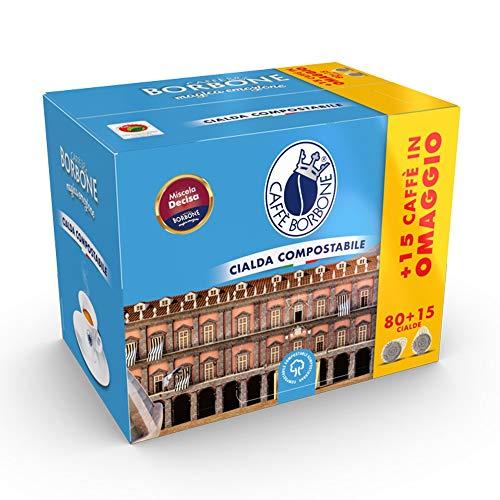 Caffè Borbone Cialde - Decisa Mischung - 95 Kaffee Kaffeepads aus Papier Kaffee-Mischung Kompatibel mit ESE Papier Pads 44 mm
