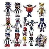 Figuras de dibujos animados de Sonic Set Super Sonic Supersonic Mouse Divertido Muñeca Figura Modelo Juguetes Infantiles Adornos Decorativos