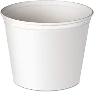 Dart 5T1-N0195 Double Wrapped Paper Bucket, Unwaxed, White, 83oz, 100/carton