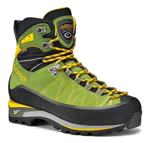 Asolo Women's Elbrus GV Climbing Boot Lime/Mimosa 9.5 & Knit Cap Bundle