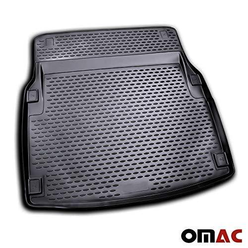 OMAC GmbH Auto Kofferraummatte Laderaumwanne Kofferraumshutz für E-Klasse W212 2009-2016 3D Passform Hoher Rand Antirutschmatte Gummi Matte Kofferraumwanne schwarz