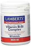 Lamberts Vitamina B-50 Complex - Tabletas, One size, Vanilla, 60 Unidad