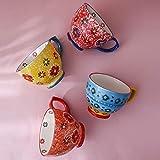 Tazza in Ceramica Dipinta A Mano Ad Alta Temperatura Tazza Tazza da caffè di Grande capacità per Uso Domestico Bottiglia d'Acqua Creativa Colazione Brocca per Il Latte-25_500Ml