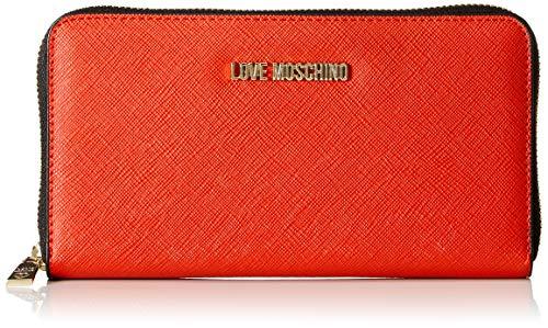 Love Moschino Jc5552pp16, Portafoglio Donna, (Rosso), 3x11x20 cm (W x H x L)