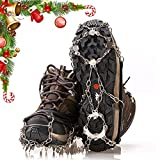 Universal Crampons Snow Cleats, Ice Cleats & Crampons for Winter Boots When Winter