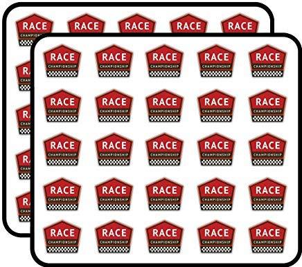 Race Championship Vintage Badge Vinyl Stickers Grappige Leuke voor Kids DIY Crafts, Scrapbooking, Laptop, Bumper Auto Stickers, Stickers voor kinderen, 50 Pack
