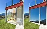 X-Solutions | UV-Schutz Sonnenschutzfolie Fenster innen | Spiegelfolie Selbstklebend | Selbsthaftend, Silber reflektierende Fensterfolie | Selbstklebende Sichtschutz, Sonnenschutz Folie | 45 x 200 cm - 7