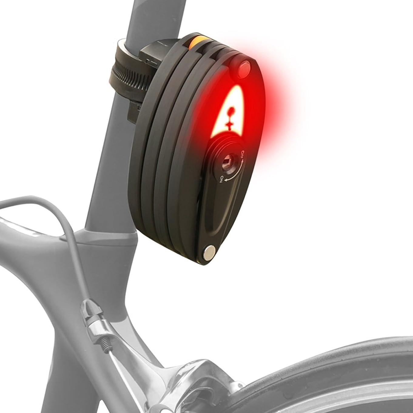 マナー医薬前書きADeroace 自転車ロック 折りたたみ可能 テールライト付き自転車ロック 盗難防止 USB充電 油圧防止ロック 電動 オートバイ マウンテンバイク 折りたたみ サイクルロック 35インチ/90cmまで展開