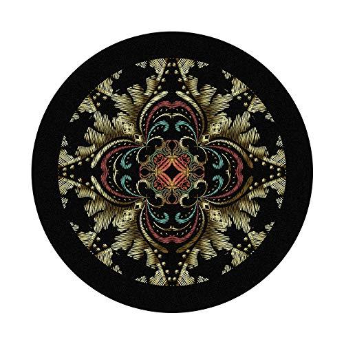 Alfombras redondas para sala de estar corte vintage black140CM moderno estilo nórdico terciopelo dormitorio ronda alfombra