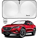AstroAI Windshield Sun Shade, Foldable and Portable Car Front Window Sun Shade Blocks UV Light and Sun Rays - Protect and Cool Your Vehicle Interior (Medium 63.04 x 31.52 inches)