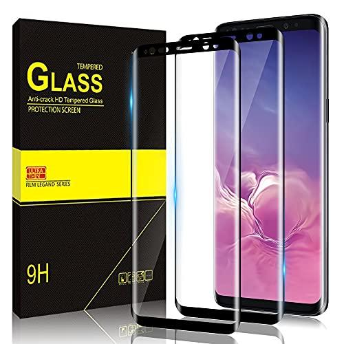 Zinking Panzerglas Schutzfolie für Samsung Galaxy S8, Anti-Bläschen, Anti-Fingerabdruck, 9H Härte, 3D Vollständige Abdeckung Panzerglasfolie, Displayschutzfolie für Samsung S8 [2 Stück]