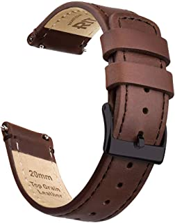 Quick Release Leather Watch Band Top Grain Leather Watch...