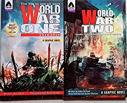 World War One: 1914-1918 + World War Two: Under the Shadow of the Swastika (Combo of 2 Books)