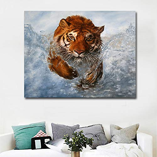 GJQFJBS Leinwanddruck Abstrakte Kunst Uhr Leinwand Kunst Malerei Wand Wohnzimmer Dekoration A4 40x50 cm