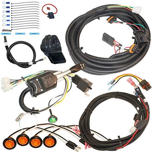 MCSADVENTURES Plug and Play Street Legal Turn Signal Kit with Horn and Hazard for 2018+ Polaris Ranger 1000, RZR 900 1000, Turbo, Turbo S