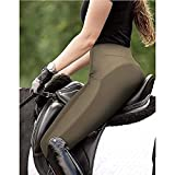 VerOut Medias de Montar para Mujer - Cintura de Mediana Altura Asiento Completo Grip de Silicona - Caballo Jodhpurs Pantalones para Mujer Equino Palagos estiramientos,Verde,S