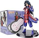Huhu 17cm Naruto Shippuden Madara Uchiwa Kakashi Estatua PVC colección de acción colección Modelo de...